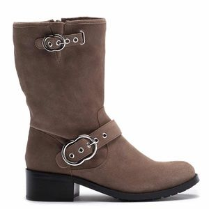 NEW Vince Camuto Wilan Suede Moto Boots